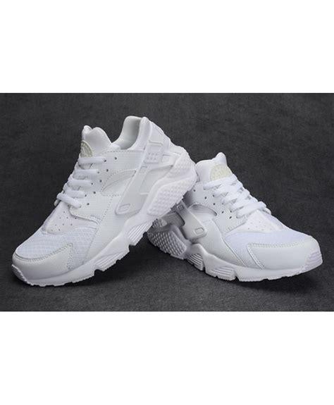 nike air trainer huarache all white run shoes for boys