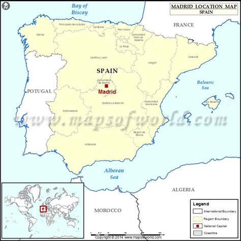 madrid world map where is madrid location of madrid in spain map