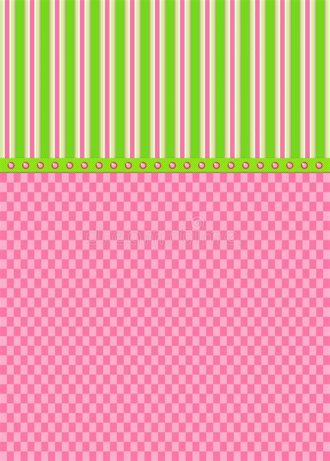Background Check For Green Card Pink Checks And Green Stripes Greeting Card Stock Illustration Illustration Of