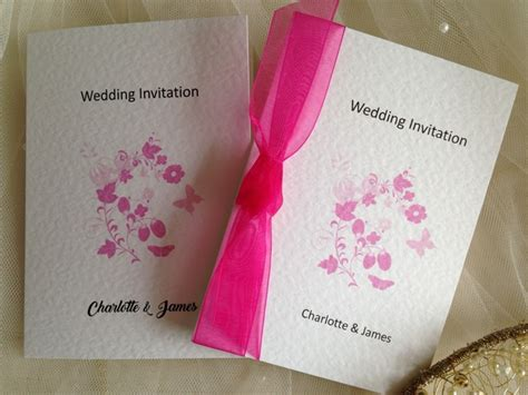 pink butterfly wedding invitations butterfly wedding invitations from 80p each butterfly wedding stationery