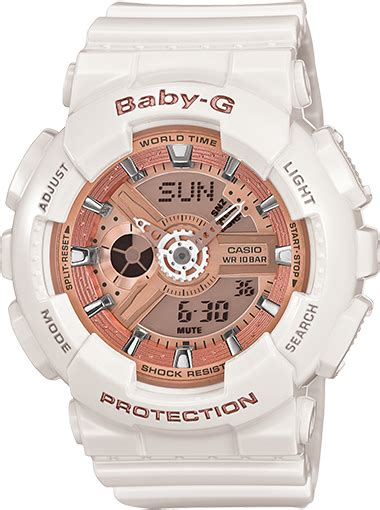 Casio Baby G Ba 110 Glossy Pink ba110 7a1 baby g white womens watches casio baby g