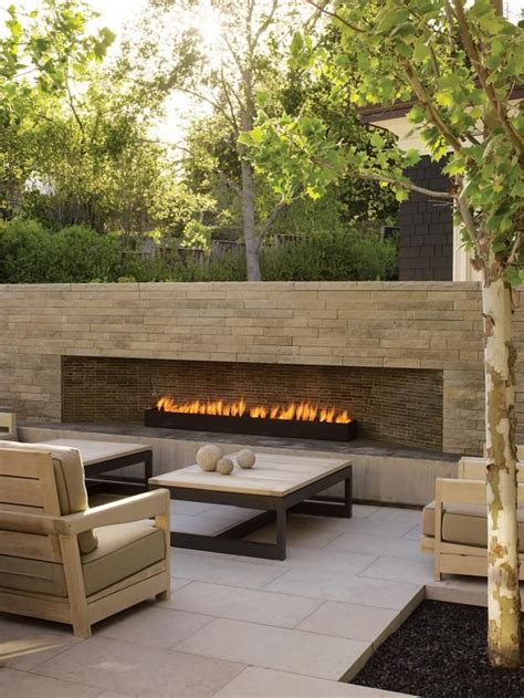 best 25 modern outdoor fireplace ideas on