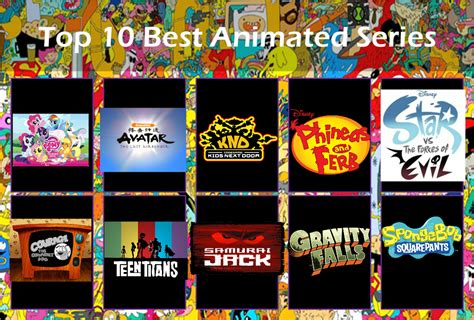 10 Best Shows by Top Ten Best Animated Tv Shows By Shirley4444 On Deviantart
