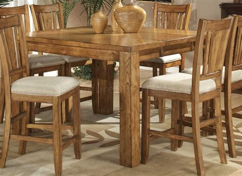 oak counter height table light oak finish counter height casual dinette table w options