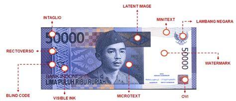 Tempat Sah Tong Sah 2 Warna unsur pengaman uang rupiah sebagai alat pembayaran yang sah dikarnakan