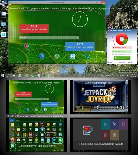 bluestacks ram 2gb android di pc via bluestacks