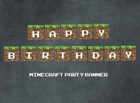printable minecraft happy birthday banner printable minecraft food with there names pictures