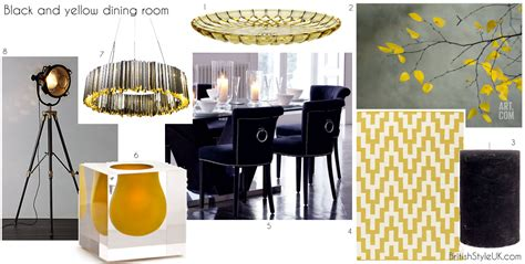 yellow and black dining room black and yellow dining room