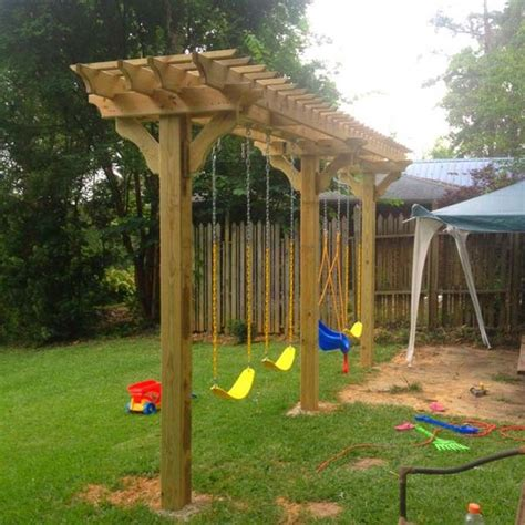 backyard swing set plans 24 inspiring diy backyard pergola ideas to enhance the