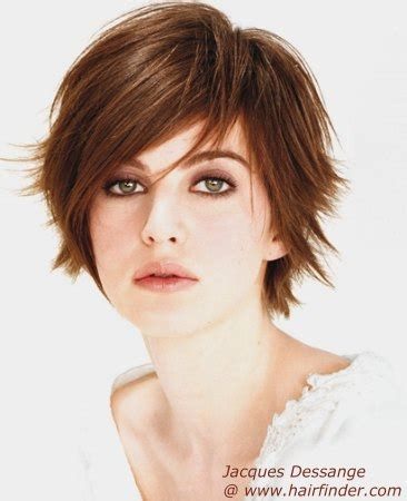 feminine short tomboy haircut with outward styled tips