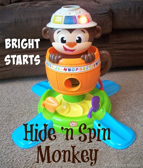 Bright Start Giggling N Singing Pot laugh with the hide n spin monkey the shirley journey