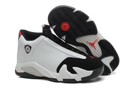 Air 14 Retro White air 14 retro gs black toe white black varsity sale