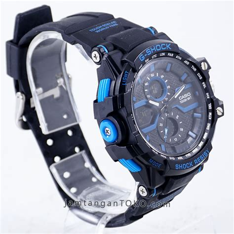 G Shock Gwa 1000 Black Blue gambar g shock x factor kw1 gwa 1000 black blue bagian