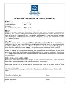 Personal Evacuation Plan Template by 6 Evacuation Plan Templates Free Sle Exle