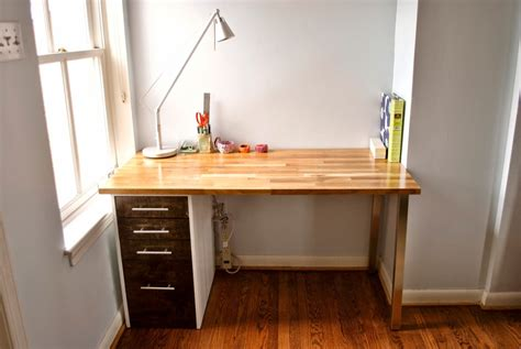 built in desk ikea custom beech and maple desk ikea hackers ikea hackers