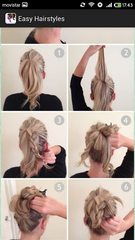 easy hairstyles step by step with pictures easy hairstyles step by step android apps on google play