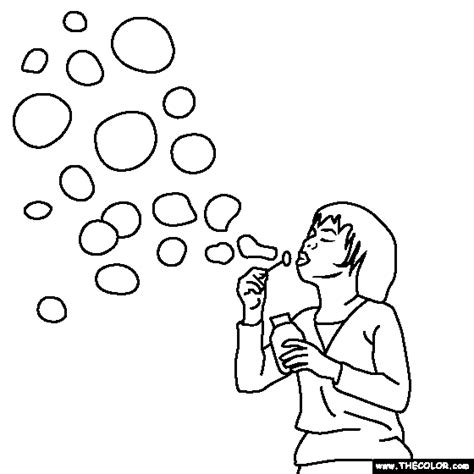 blowing bubbles coloring page polar bear pattern