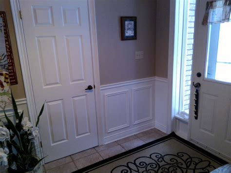 Wainscoting Canada before after pics of wainscoting in utopia ontario k r h renovations inc