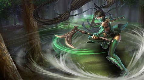 akali classic chinese skin lolwallpapers