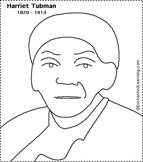 Harriet Tubman Coloring Page harriet tubman print out