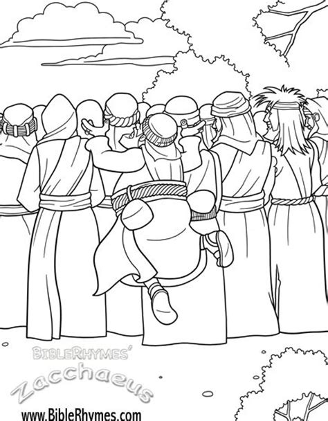 coloring pages story zacchaeus click on the zaccheus picture and you will be able to