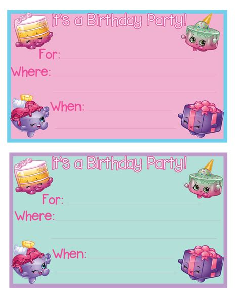 shopkins birthday party printables mandy s party printables