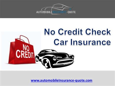 Where Can I Get No Credit Check Car Insurance Quote