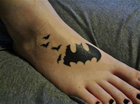 batman tattoo on foot bat tattoos and designs page 65