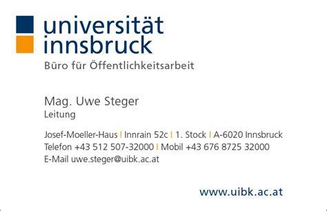 Visitenkarten Innsbruck visitenkarten universit 228 t innsbruck