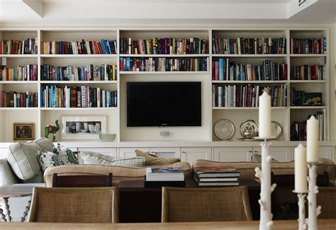 built in bookcases transitional living room adelaide