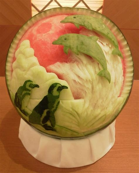 They Been Carving Melons Again by Carved Watermelons Make Fresh Paper Scissors Rock