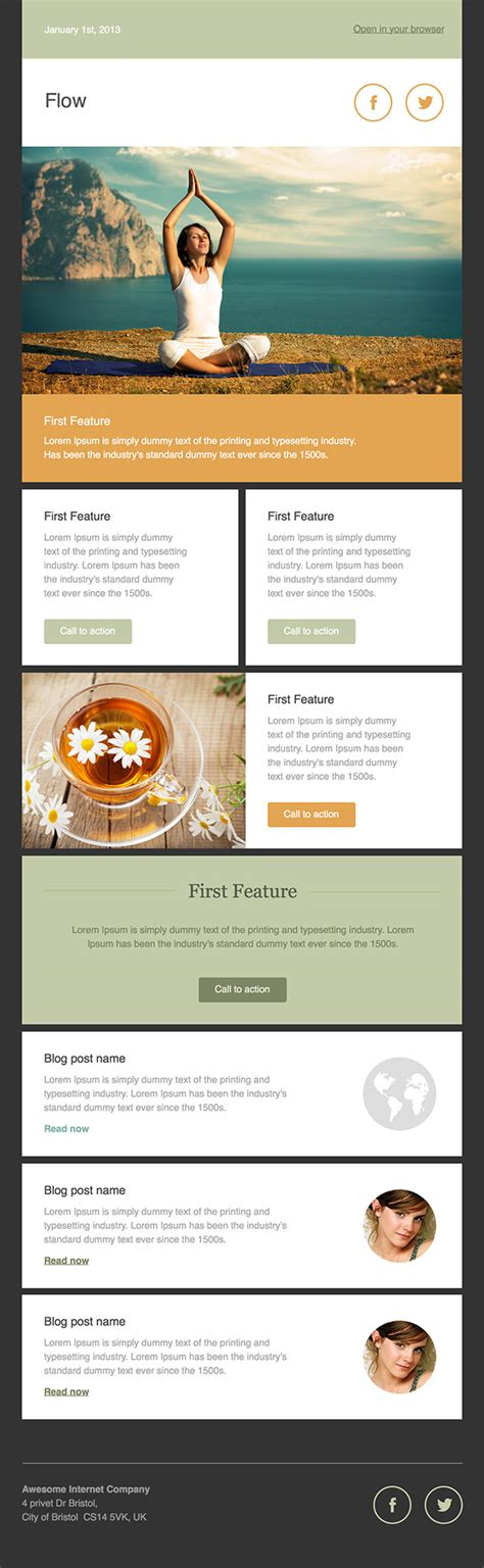 newsletter templates for email newsletter templates free email templates cakemail