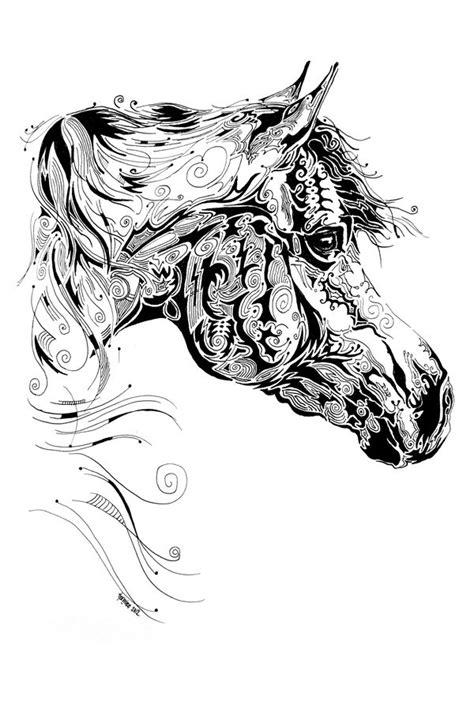 tattoo pen livestock indian ink art on behance horses in ink pinterest
