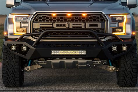 led lights for truck bumpers hennessey performance velociraptor front bumper with led