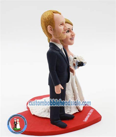 bobblehead cake topper custom wedding bobble cake topper