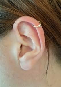 ear cuff bague d oreille simple anneau fil d or