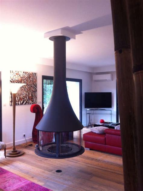 cheminee centrale suspendu z 233 lia centrale suspendu 224 arbonne by l atelier du feu