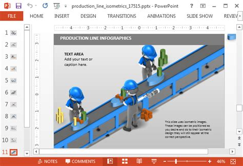 product layout assembly line animated isometric assembly line powerpoint template