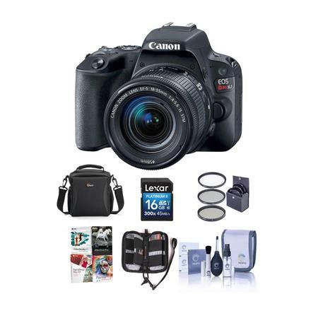 canon eos rebel sl2 dslr with 18 55mm stm lens black