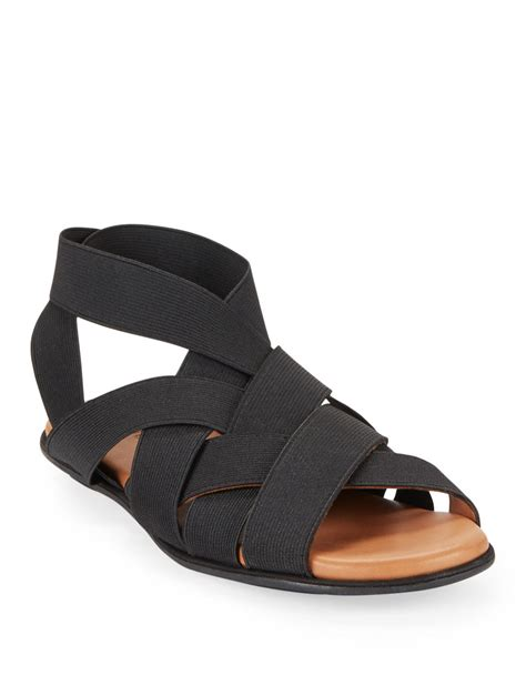 elastic sandals gentle souls bari elastic sandals in black lyst