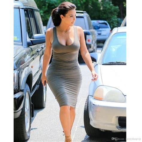 2018 Hot Sale Sexy Women Bodycon Kim Kardashian Celebrity