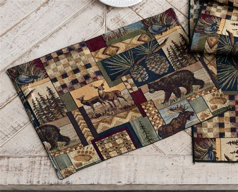 Cabin Placemats woodland cabin placemats set of 4