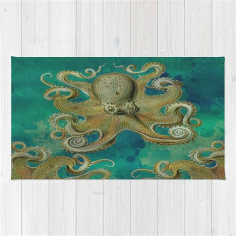 octopus area rug octopus area rug throw rug teal tentacles