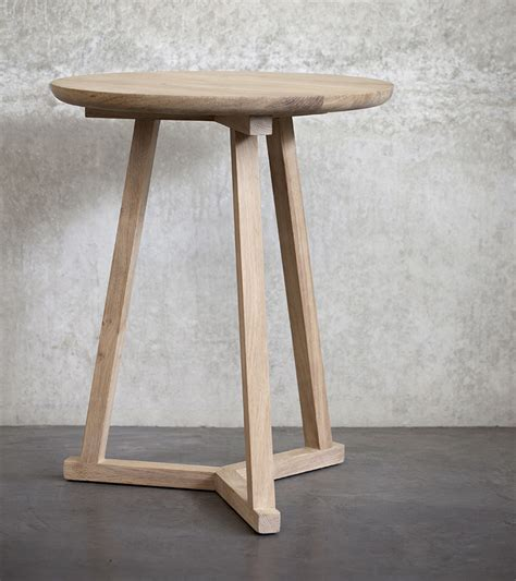 Tripod Bedside Table Ethnicraft Tripod Side Table Bedside Tables Bed Co