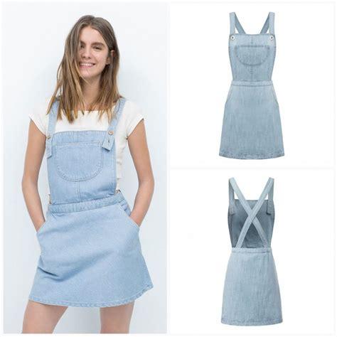 2015 womens casual blue denim jumper dress