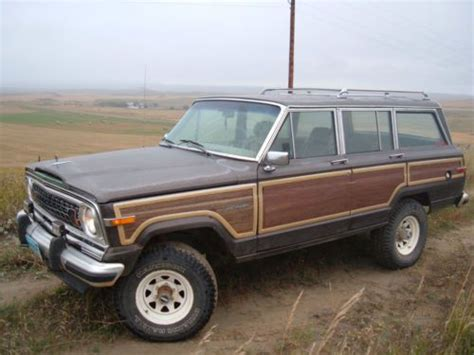 wagoneer jeep lifted buy used 1987 amc jeep grand wagoneer sj lifted 4 speed