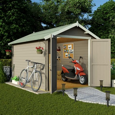 Garden Sheds 10 X 8 Billyoh 10 X 8 19mm Log Cabin Heavy Duty Garden Shed Sheds