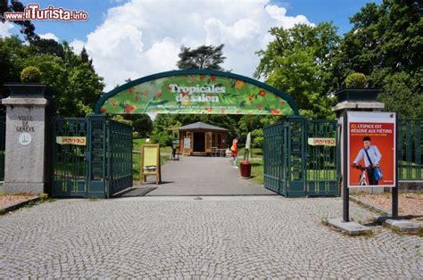 ingresso in svizzera l ingresso giardino botanico di ginevra foto