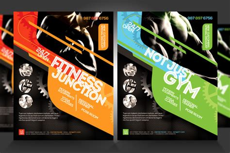 design flyers near me fitness flyer gym flyer v5 flyer templates on creative