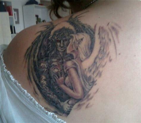 tattoo angel and devil on shoulder devil tattoo images designs